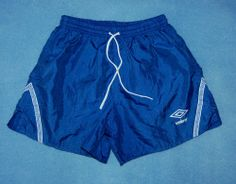 Vtg Umbro Soccer Shorts Size Adult Small S Royal Blue Nylon Shorts USA Men Women