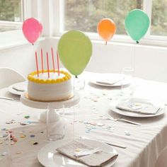 Mini baloon placecards