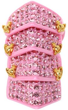 Vivienne Westwood Resin Pave Armour Ring in Pink (p)