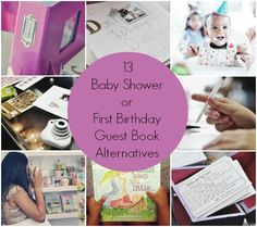 13 Baby Shower or First Birthday Guest Book Alternatives