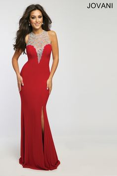 Sleeveless Jersey Fitted Gown