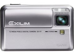 Casio Exilim EX-V7SR 7.2MP Digital Camera with 7x  Optical Image Stabilized Zoom by Casio. $249.99. From the Manufacturer                Manufacturer Description  Imagine -- one of the world's thinnest 7X optical zoom digital cameras with CCD Shift Stabilization for rock-steady pictures. That's the Casio EX-V7. Less than an inch thick. Packed with powerful, innovative features. Giving you pictures and video beyond compare.  A sophisticated, 7X optical zoom without the bulkin...