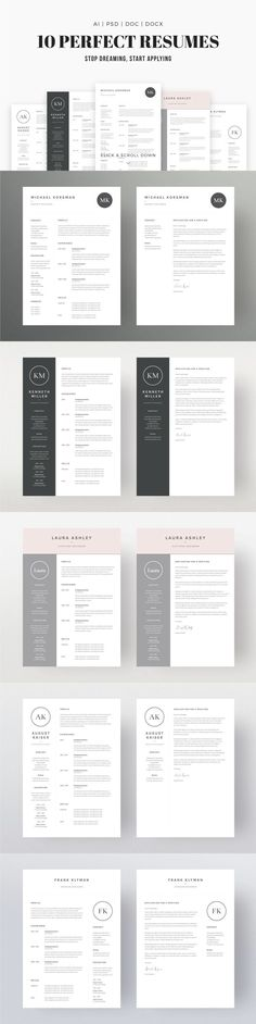 Job Seeker's Dream Bundle: Professional, downloadable resume template designs