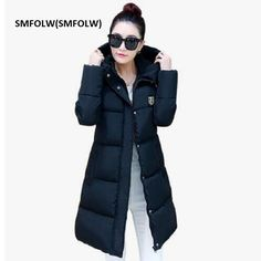 Cheap coat parka, Buy Quality down parka directly from China fashion parka Suppliers: SMFOLW(SMFOLW) 2017 New Fashion Thick Winter Down Jacket Women Slim Hooded Black Long Coats Parka For Student Cotton Coat China Fashion, New Fashion, Jackets For Women, Clothes For Women, Women's Jackets, Cheap Coats, Parka Style, Long Coats, Womens Parka