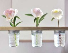 20 ideas para decorar con tarros de cristal.