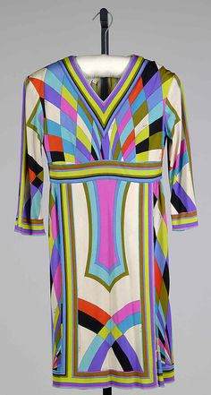 Dress Emilio Pucci (Italian, Florence 1914–1992) Date: ca. 1965 Culture: Italian Medium: Silk