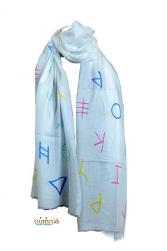 new Phoenician Alphabet on soft modal, Oumnia new summer design available in different color combo
