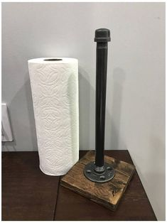 Farmhouse Paper Towel Holders, Industrial Paper Towel Holders, Paper Towel Holder Kitchen, Pipe Furniture, Rustic Furniture, Furniture Stores, Cheap Furniture, Küchen Design, Rustic Design