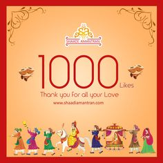 Woohoo!!! A Million thanks to our 1000+ fans in this journey of ours. Its just a beginning, want to make your Wedding  big and special.  #1000likes #1000fans #1000supporters #excited #milestone #feedback #suggestions  http://www.shaadiamantran.com?utm_content=buffer639d0&utm_medium=social&utm_source=pinterest.com&utm_campaign=buffer  Follow us on other Media: Fb: http://facebook.com/shaadiamantran?utm_content=buffer74d45&utm_medium=social&utm_source=pinterest.com&utm_campaign=buffer Twitter…