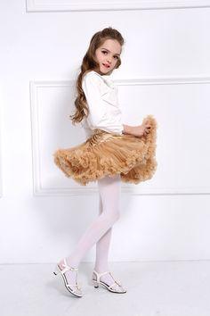 Girls Tights White Patterned Sheer 20 Denier Matt Kids Hosiery Lillian Knittex