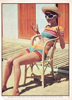 Audrey Hepburn, Two For The Road. More great vintage swimwear
