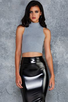 Uptown Girl High Neck Crop - PRESALE ($40AUD) by BlackMilk Clothing