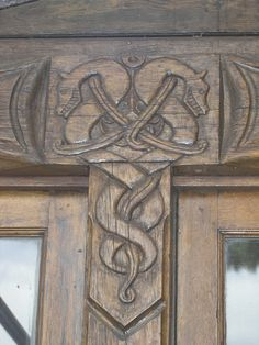 Vikingsholm, dragons detail, via Flickr.