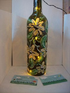 Hand Painted Wine Bottles I TAKE REQUESTS by BuggyBeanDesigns, $25.00