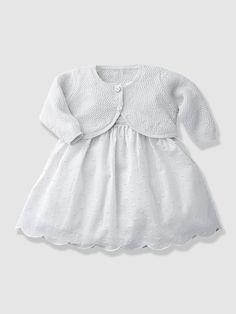 #Ensemble robe brodée et boléro pailleté bébé nouveau né, Bébé Collection vertbaudet Printemps-Eté 2015 - www.vertbaudet.fr