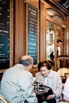 "Street Photography in Paris - ""Remember these times where we would have Champagne at tea time ?"""