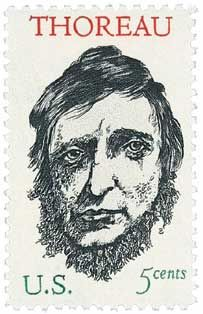 1967 5c Henry David Thoreau - Catalog # 1327 For Sale at Mystic Stamp Company