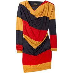 Vivienne Westwood. jersey dress. the colors rock.