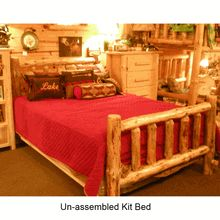 Do-it-yourselfers will save big on this solid Pine Log Bed Kit.