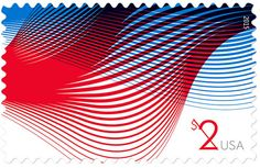 The U.S. Postal Service has launched Patriotic Wave stamps.