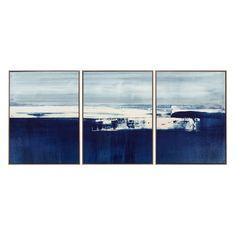 Coastal Landscape Triptych #williamssonoma