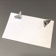 Paper Plane stud earrings, sterling silver www.fairinachengjewellery.com #earrings #studearrings #fairinacheng