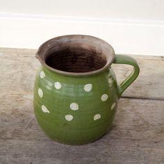 Spotty green pot- polka dots and st Patrick's! Perfect!