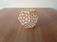Dodecaedro, in legno, tagliato  a CNC. Geometria sacra. di DragonHawk666 su Etsy