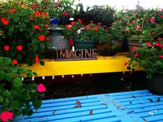 Imagine Sitting Bench....Love the colors.