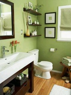 Something Like This For The Upstairs Bathroom. Bathroom GreenBrown ...