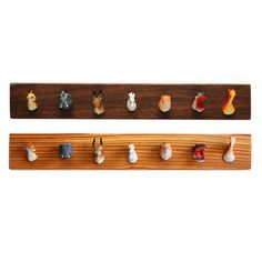 animal figurines as coat hooks