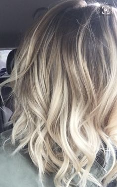 Ombre Blonde Hair Hairstyle Haircut
