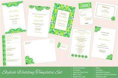 Set of Vector Wedding Templates by Sunshine Art Shop on @creativemarket