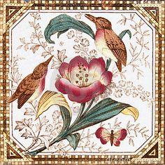 Antique Art Nouveau Pansy Tile Stock Image - Image of architectural, 4022203 Victorian Tiles, Antique Tiles, Vintage Tile, Victorian Decor, Antique Art, Beatrix Potter, Vitromosaico Ideas, Importance Of Art, Art Nouveau Tiles