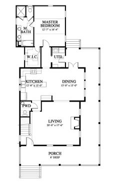 Allison Ramsey Architects | Floorplan for The Camden - 2038 square foot house plan # C0359