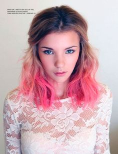 Great brunette to pink ombre hair for shoulder duration hair | 22 Medium Size Hairstyles For 2015 – Prime Shoulder Size Hairstyles http://www.jexshop.com/