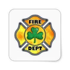 Irish Fire Dept Sticker