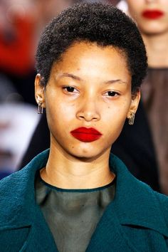 The Update: Velvet LipsEnter, velvet lips. You'll see plush, super-matte pouts all over the place next season, and we're loving the effect. Simply swipe on your favorite matte, red lipstick, and then tap on a red loose pigment on top of that (we love MAC's Pigment in Basic Red, but any matte, red eyeshadow will do). Not only will your lips look perfectly retro, but because you've set your work with a powder the color won't budge for hours. #refinery29…