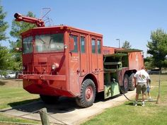 Late 50's American LaFrance O-11B crash truck. Through out the 50's and 60's the O10's and 11's were standard issue most armed forces air bases....not many exist....