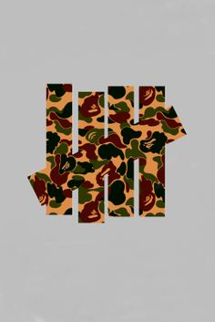 Bape x Undefeated. Original logo designed by Ed Taylor for Soft Gold USA.