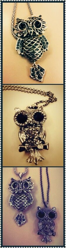 You can't go wrong with an owl necklace - from Cato. Diy Fashion, Spring Fashion, Womens Fashion, Owl Necklace, Cool Style, My Style, Hippie Gypsy, Vintage Jewelry, Jewelry Box