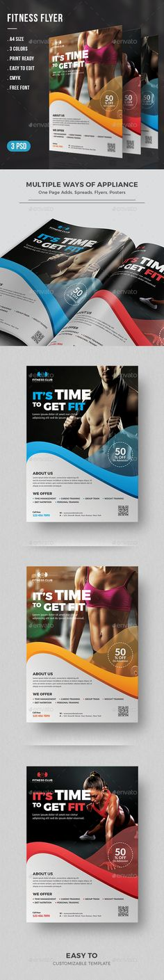 Fitness Flyer Template PSD. Download here…