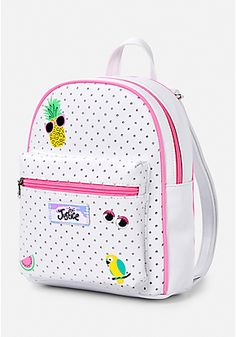 Glitter-Dot Patch Mini Backpack