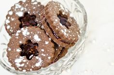 Chocolate Raspberry Sandwich Cookies