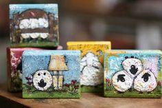 Junelle Jacobson: sheep on mini canvas