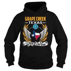 Grape Creek, Texas It's Where My Story Begins T-Shirts, Hoodies. ADD TO CART ==► https://www.sunfrog.com/States/Grape-Creek-Texas--Its-Where-My-Story-Begins-101126149-Black-Hoodie.html?id=41382