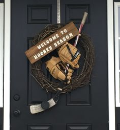 Hockey wreath. Very appropriate for our front door.