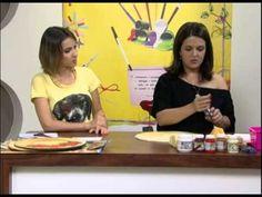 ▶ Mulher.com 14/12/2012 Marisa Magalhães -- Sousplat com decoupage natalina 1/2 - YouTube