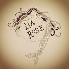 Mermaid illustration for Lia Rose