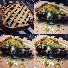 New Project: Taught my little nephews and nieces some tips on how to bake a blueberry pie. I tried adding a little twist to it by placing bits of exotic mozzarella cheese to the filling. Topped with homemade whipped cream and sprinkled with shredded walnuts for final touch. Actually came out quite decent! #pie #blueberries #cheese #ginger #sugar #salt #walnuts #cream @mariyanademenko @tankulakevichv @angiebezhenar @mike_bezhenar @phillip_b_123 @demenko1